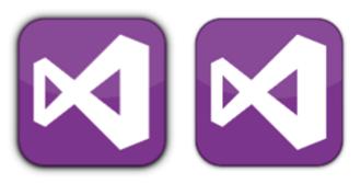 Comparação dos icones com e sem sombra