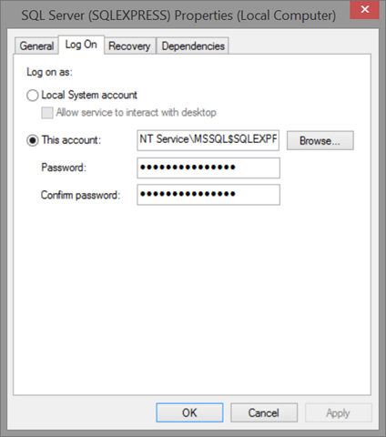Sql server proccess user